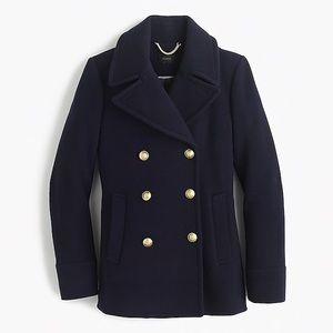 J. Crew Stadium Cloth Majesty Navy Peacoat for sale